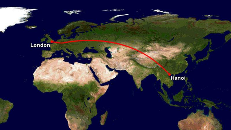 Chi phí vé máy bay đi từ Việt Nam đến anh